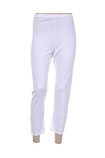 carmen pantalons femme de couleur blanc