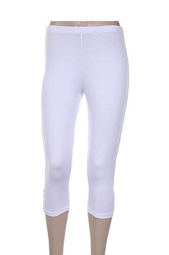 katmai pantalons femme de couleur blanc