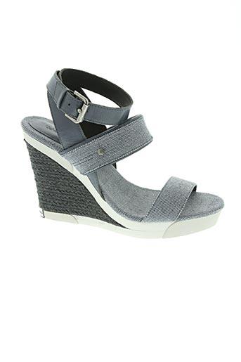 calvin klein chaussures femme de couleur bleu