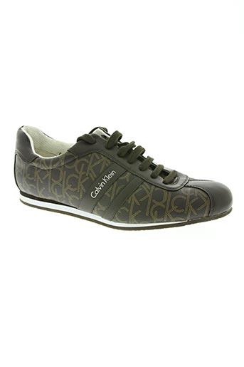 calvin klein chaussures homme de couleur marron