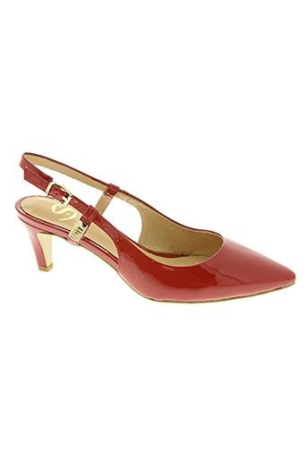 massimo santini chaussures femme de couleur rouge
