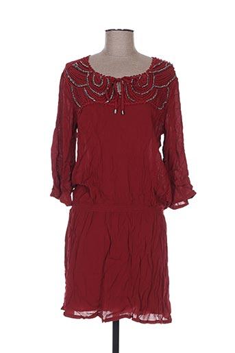 Robe mi-longue rouge BREAL pour femme