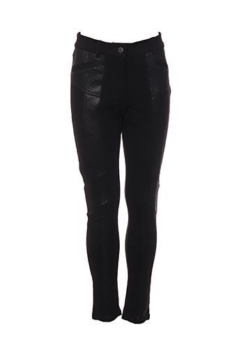 Pantalon casual noir BREAL pour femme