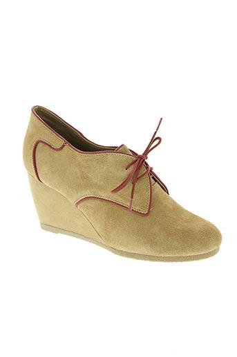 ixoo chaussures femme de couleur beige