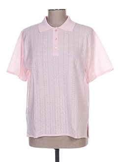 Polo manches courtes rose ELEANE pour femme