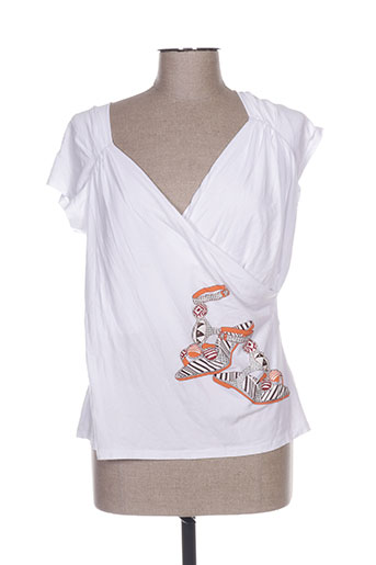 T-shirt manches courtes blanc COSTURA 40 pour femme