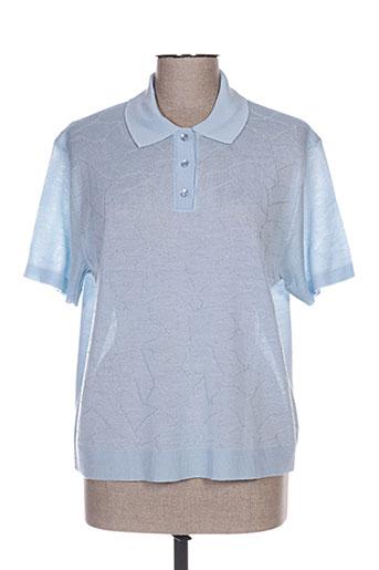 Polo manches courtes bleu DANIEL JOSAL pour femme