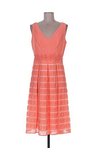 Robe mi-longue orange CAMELOT pour femme