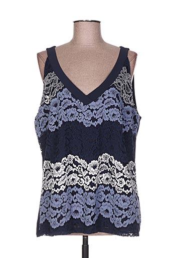 phildar chemises femme de couleur bleu