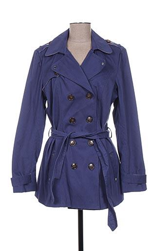 phildar manteaux femme de couleur bleu