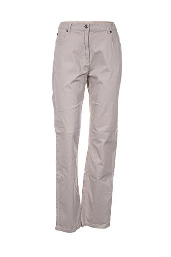 bx pantalons femme de couleur beige