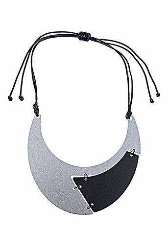 Collier gris AUTOUR D'ELLE pour femme