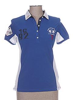 Polo manches courtes bleu LA MARTINA pour femme