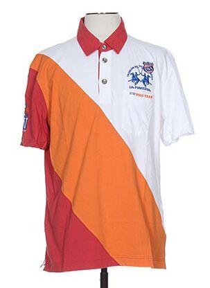 Polo manches courtes orange LA MARTINA pour homme