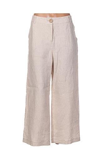 sun light pantalons femme de couleur beige