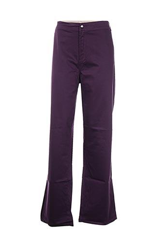 Pantalon casual violet ALAIN WEIZ pour femme