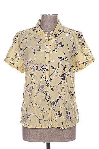 brandtex chemises femme de couleur jaune