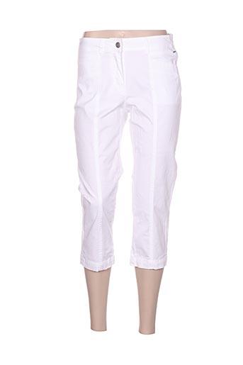 brandtex pantacourts femme de couleur blanc