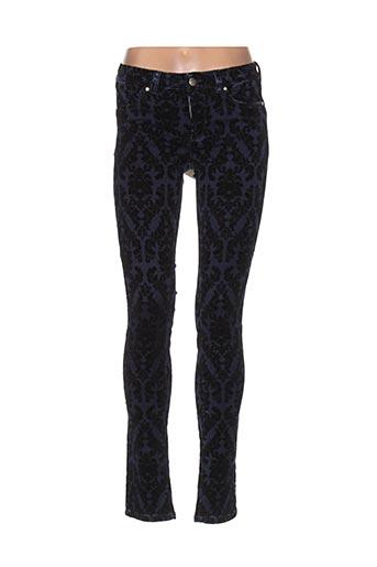 sportmax pantalons femme de couleur bleu