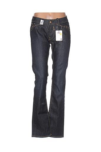 leg end jeans femme de couleur bleu