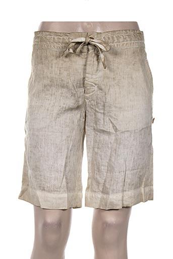120% lino shorts / bermudas homme de couleur beige