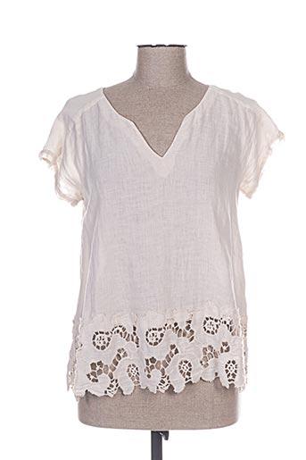 120% lino chemises femme de couleur beige