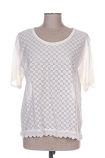 120% lino t-shirts femme de couleur beige
