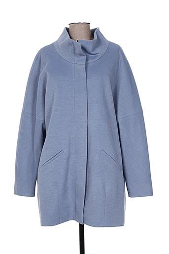 kamachi manteaux femme de couleur bleu