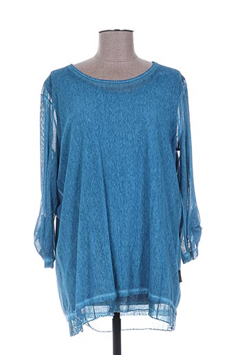 capuccino chemises femme de couleur bleu