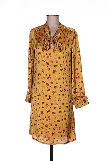 akoz de toi robes femme de couleur jaune