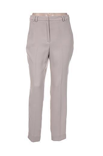 jean delfin pantalons femme de couleur beige