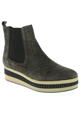 pons quitana chaussures femme de couleur gris