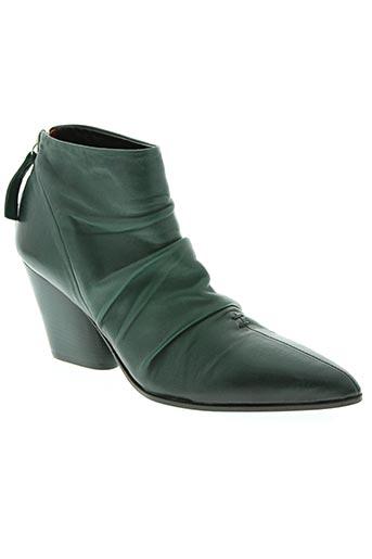halmanera chaussures femme de couleur vert