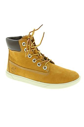timberland chaussures garçon de couleur beige