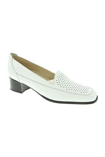 bertin chaussures femme de couleur blanc