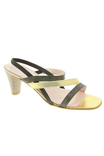 elantine chaussures femme de couleur jaune