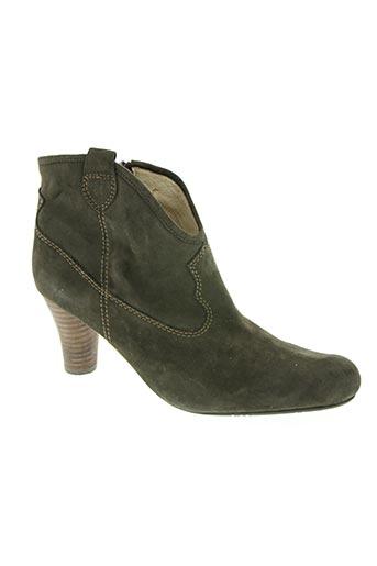 fugitive chaussures femme de couleur vert