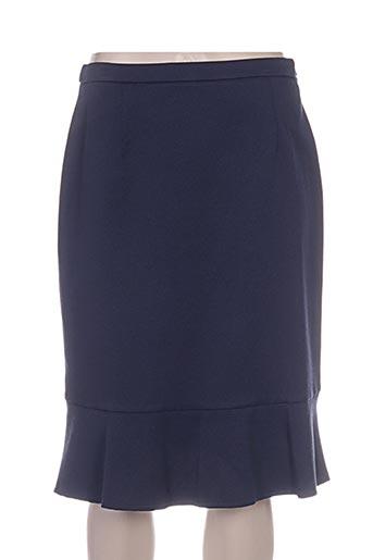 Jupe mi-longue bleu PAUPORTÉ pour femme
