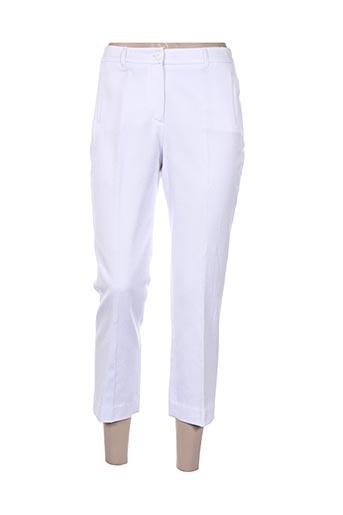 pauporté pantacourts femme de couleur blanc