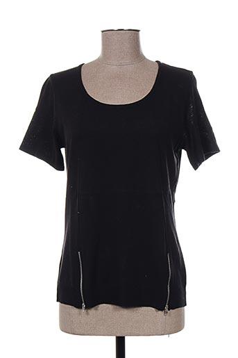 T-shirt manches courtes noir PAUPORTÉ pour femme