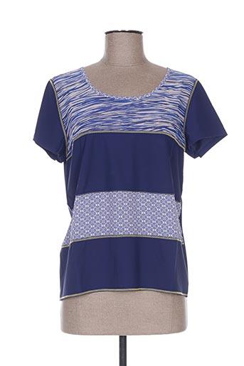 pauporté t-shirts femme de couleur bleu