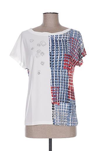 T-shirt manches courtes blanc PAUPORTÉ pour femme