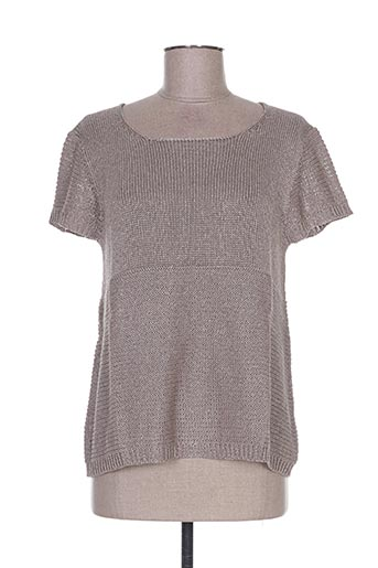 Pull col rond marron WEINBERG pour femme