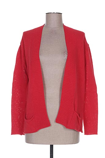 Gilet manches longues rouge WEINBERG pour femme