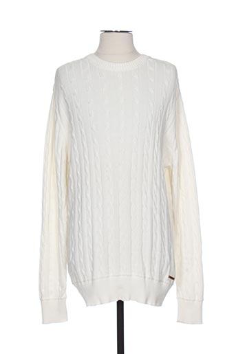 knowledge cotton apparel pulls homme de couleur blanc