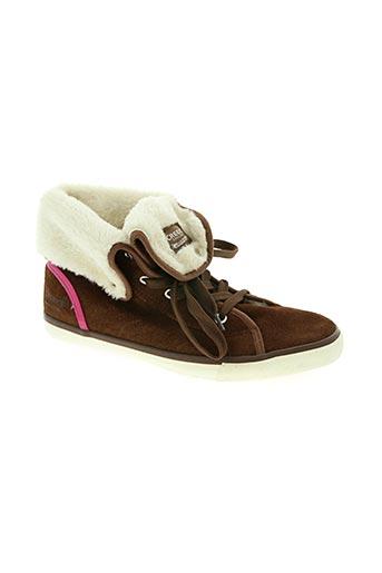 creeks chaussures femme de couleur marron