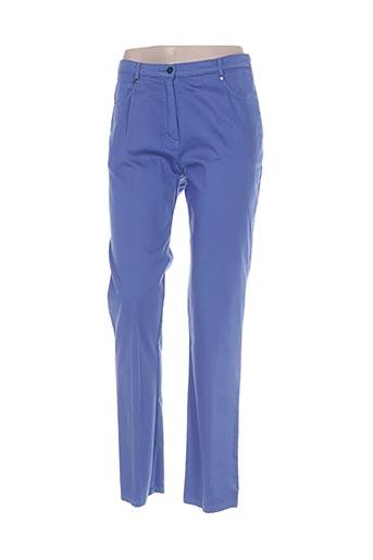 impulsion pantalons femme de couleur bleu
