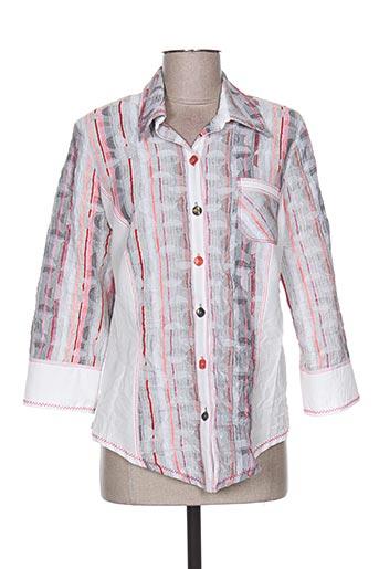 france rivoire chemises femme de couleur gris