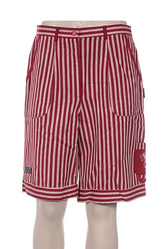 les marins de jac jac shorts / bermudas femme de couleur rouge