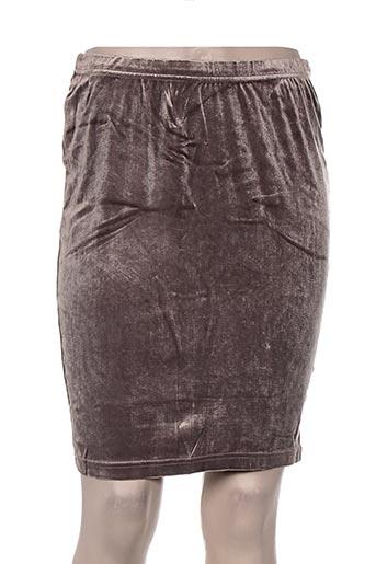 Jupe mi-longue beige DIAPOSITIVE pour femme